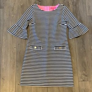 Lilly Pulitzer Alden Black & White Striped Dress